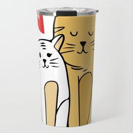 Cartoon Cat Family Travel Mug