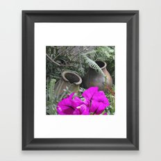Garden Crocks Framed Art Print