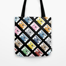 Rainbow Tapes 45 Tote Bag