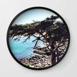 Overlooking Carmel By The Sea Wall Clock
