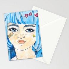 Kawaii Blue Stationery Cards
