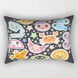 Funny Kawaii zodiac sign,  virgo, aries, gemini, cancer, aquarius, taurus, leo, libra sagittarius Rectangular Pillow