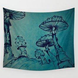 Mushroom Garden Wall Tapestry