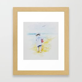 Summer childhood. Framed Art Print