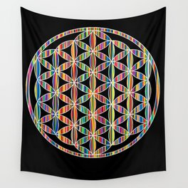 Flower of Life Colored | Kids Room | Delight Wall Tapestry
