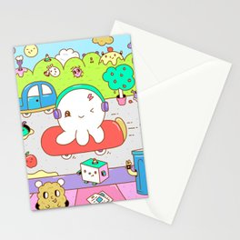 Octopus Character Stationery Cards