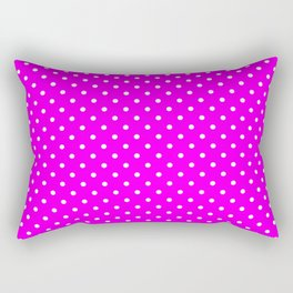 Dots (White/Fuchsia) Rectangular Pillow