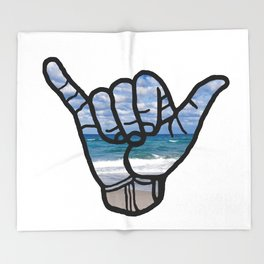 Beach Hang Loose Throw Blanket
