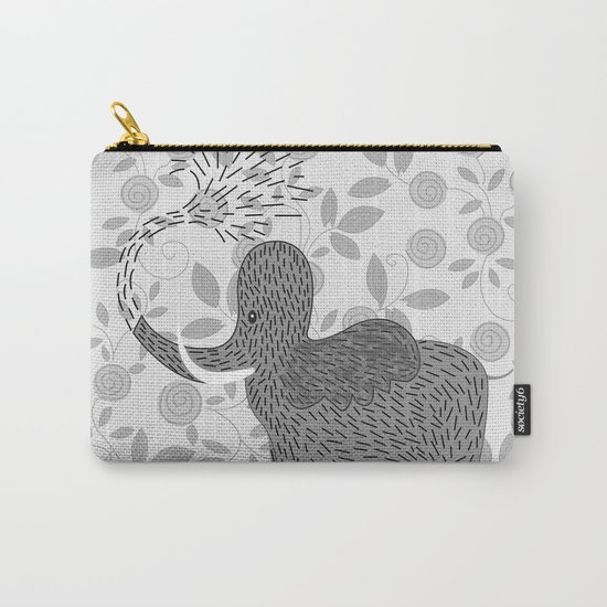 Happy Elephant Carry-All Pouch