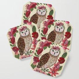 Floral Owl Coaster