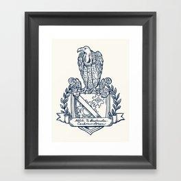 Nolite Te Bastardes Carborundorum_Crest Framed Art Print