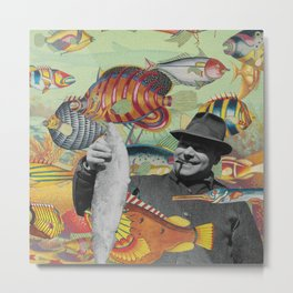Plenty More Fish Floating Nearby Metal Print
