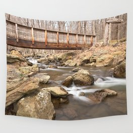 Cunningham Forest Bridge & Water Stream Wall Tapestry