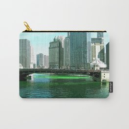 Chicago River on St. Patrick's Day #Chicago Carry-All Pouch