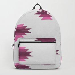 Plumly Pink Aztec Print Backpack