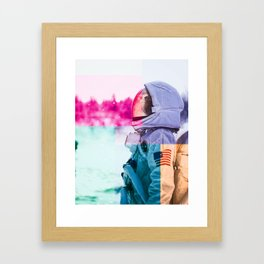 Cosmonaut double exposure 2 Framed Art Print