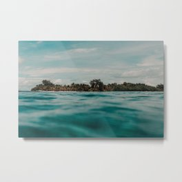 Shipwrecked Ocean Blues Metal Print