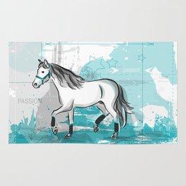 trotting horse Rug