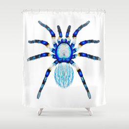 Crystal Ice Spider Shower Curtain