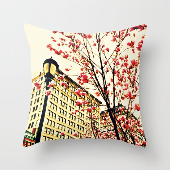 street blossoms Throw Pillow