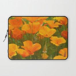 California Poppies Art Laptop Sleeve