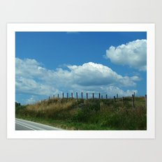 The Clouds Are Not Fenced In Art Print