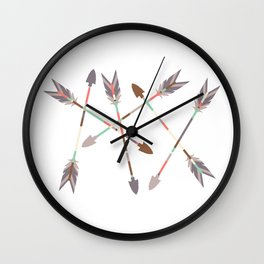 Arrow Stack Wall Clock