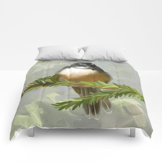 Fantail chick Comforters