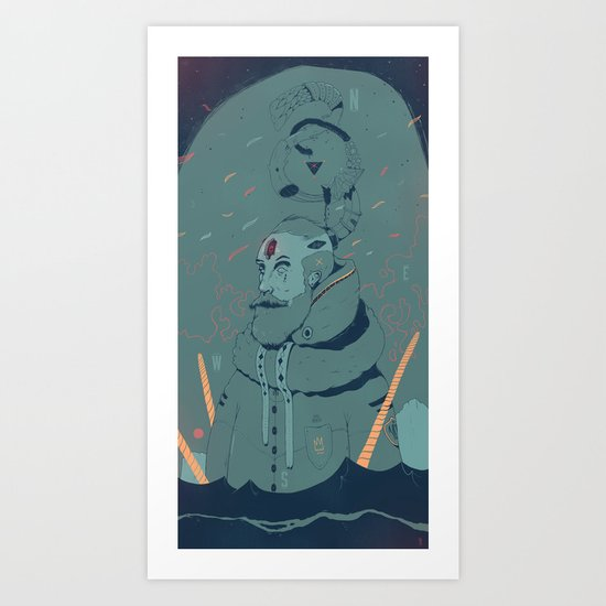 The King of Antartica Art Print