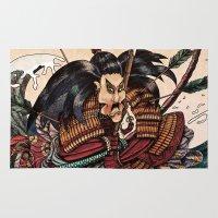 samurai Area & Throw Rugs featuring Samurai by RICHMOND ART STUDIO