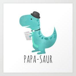 Papa-saur Art Print