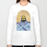 skeletor Long Sleeve T-shirts featuring Saint Skeletor by Ghirigori Lab