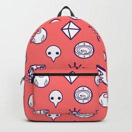evangelion nerv angels pattern asuka red Backpack