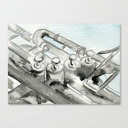 Tuba pistons Canvas Print