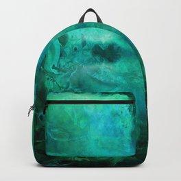 """Abstract aquamarine, deep waves"" Backpack"