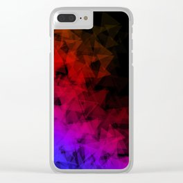 Dark origami Clear iPhone Case