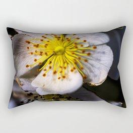 White Blossom Rectangular Pillow