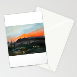 Sunset Over the Superstitions Stationery Cards