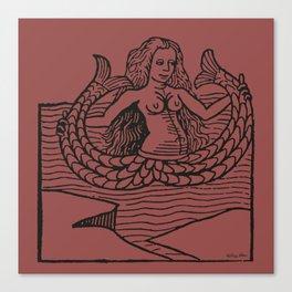 Mermaid on Marsala Canvas Print
