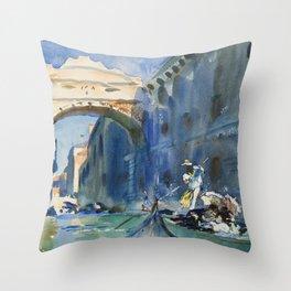 """John Singer Sargent """"The Bridge of Sighs, Venice"""" Throw Pillow"""