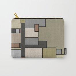 Neutral Abstract Floor Plan Art Carry-All Pouch