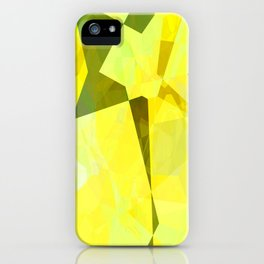 Pale Yellow Poinsettia 1 Abstract Polygons 2 iPhone Case