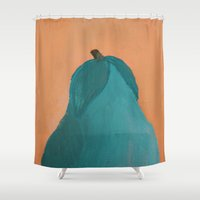 pear Shower Curtains featuring Pear by seekmynebula