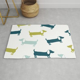 Lovely dachshunds in great colors Rug