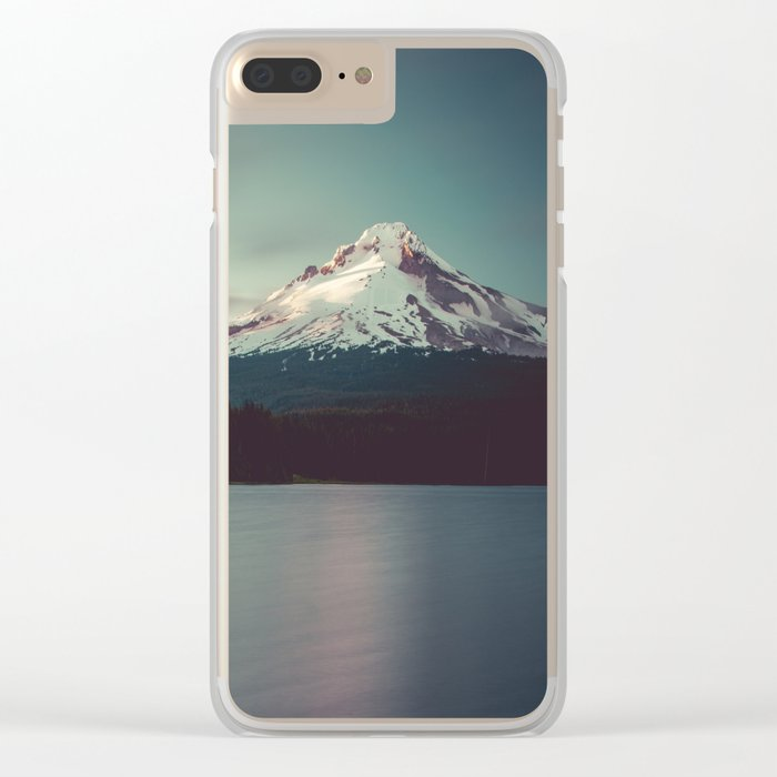 Sunset at Trillium Lake Clear iPhone Case
