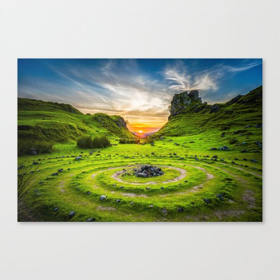 Fairytale Landscape, Isle of Skye, Scotland Canvas Print