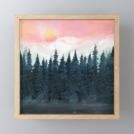 Forest Under the Sunset Framed Mini Art Print