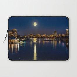 Moon light city of Boston Laptop Sleeve