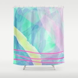 Think of summer sky Shower Curtain
