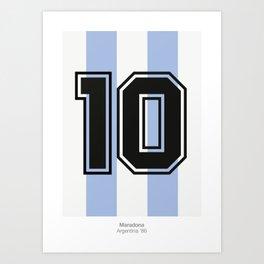 Maradona 10 Art Print